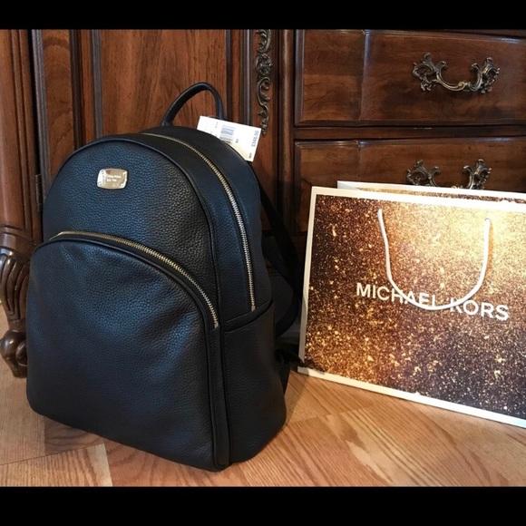 348 Michael Kors ABBEY Leather Backpack Handbag a6d7b3a72116d